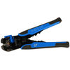 Self-Adjusting Wire Stripper with Cutter and Crimper