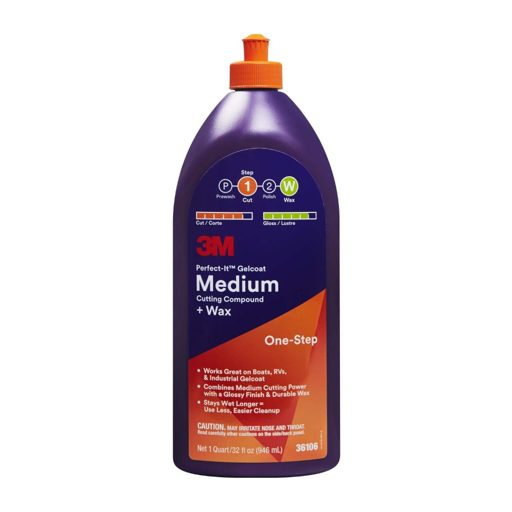 3M Perfect-It Gelcoat Medium Cutting Compound with Wax