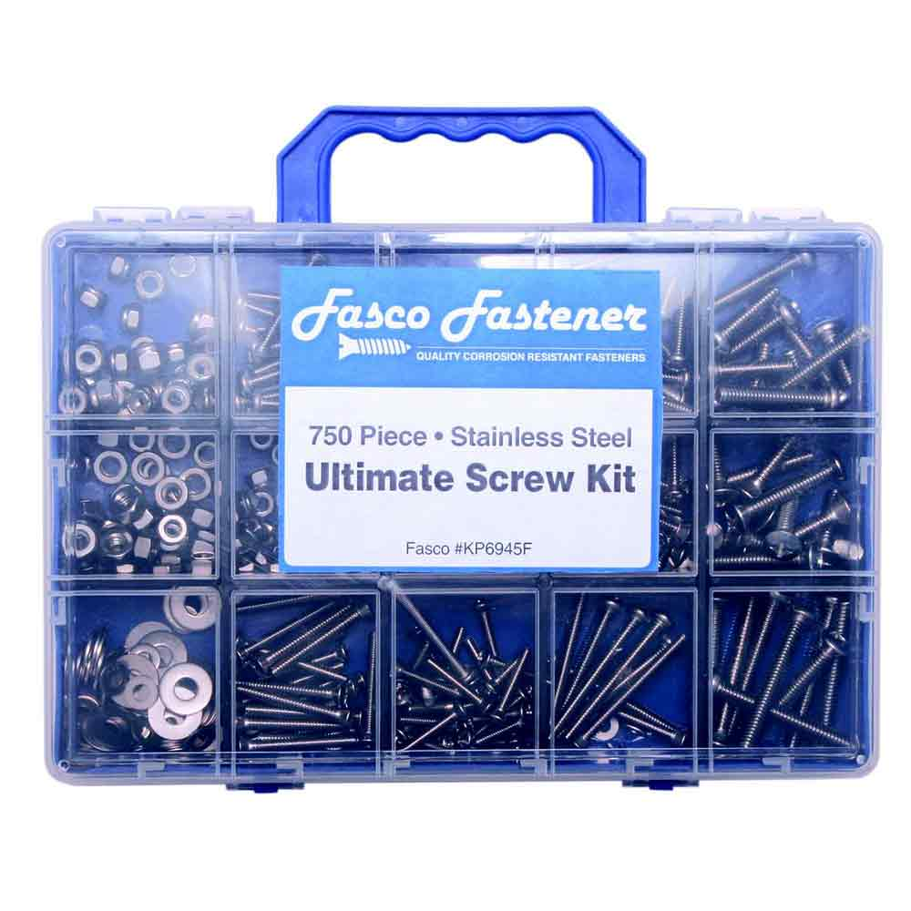 750 Piece Ultimate Stainless Steel Fastener Kit