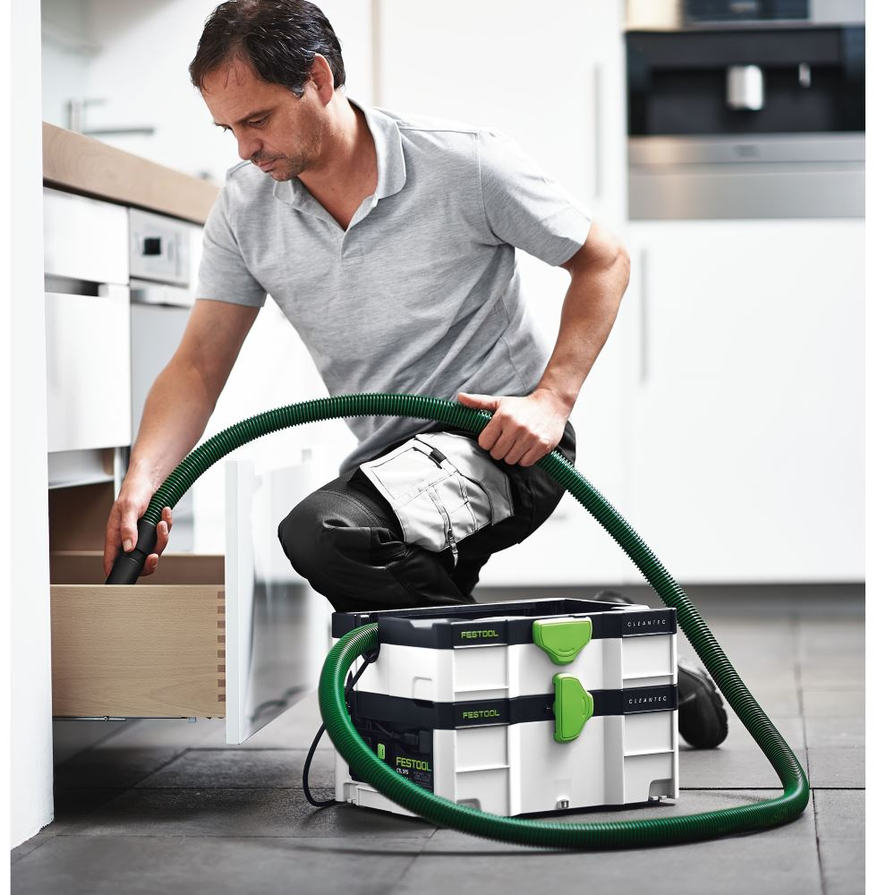 Portable HEPA Dust Extractor in Use