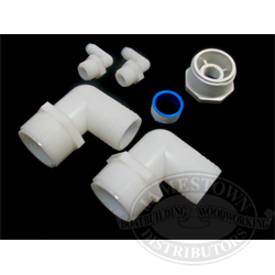 90 Degree Pipe to Hose Fitting kit