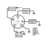 Sierra Magneto Ignition Starter Switch