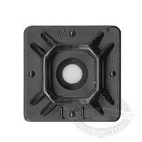 cable tie mounting platforms - black