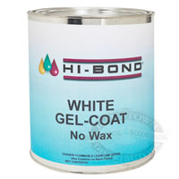 Hi-Bond White Gel Coat - No Wax w/ Hardener