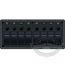 8 Position Water Resistant Circuit Breaker Panel - Black