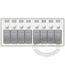 8 Position Water Resistant Circuit Breaker Panel - White