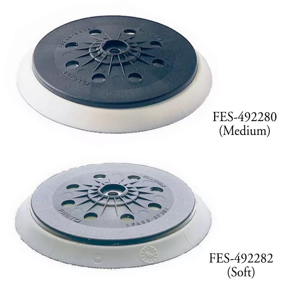 Festool 5 inch Medium and Soft StickFix Sanding Pads for ETS 125 random orbital sander
