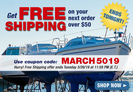 Free Shipping Ends Tonight!