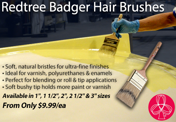 Redtree Badger Hair Brushes