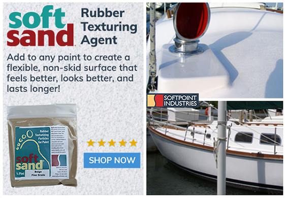 SoftSand Rubber Non-Skid Paint Additive