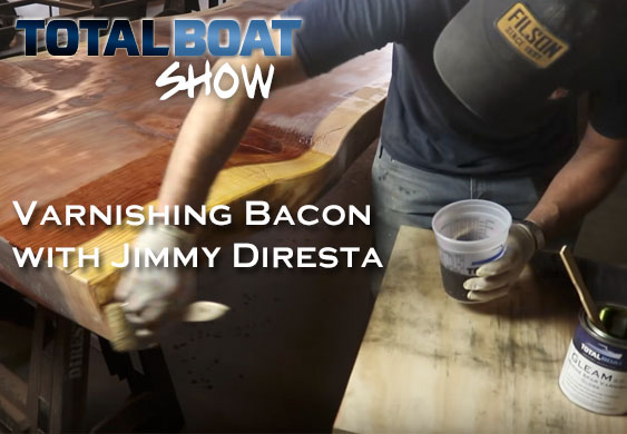 Varnishing Slab Table with Jimmy Diresta