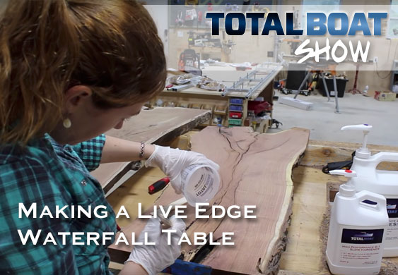 Making a Live Edge Waterfall Table