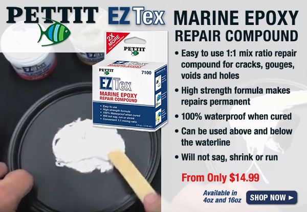 Pettit EZ Tex Marine Epoxy Repair Compound