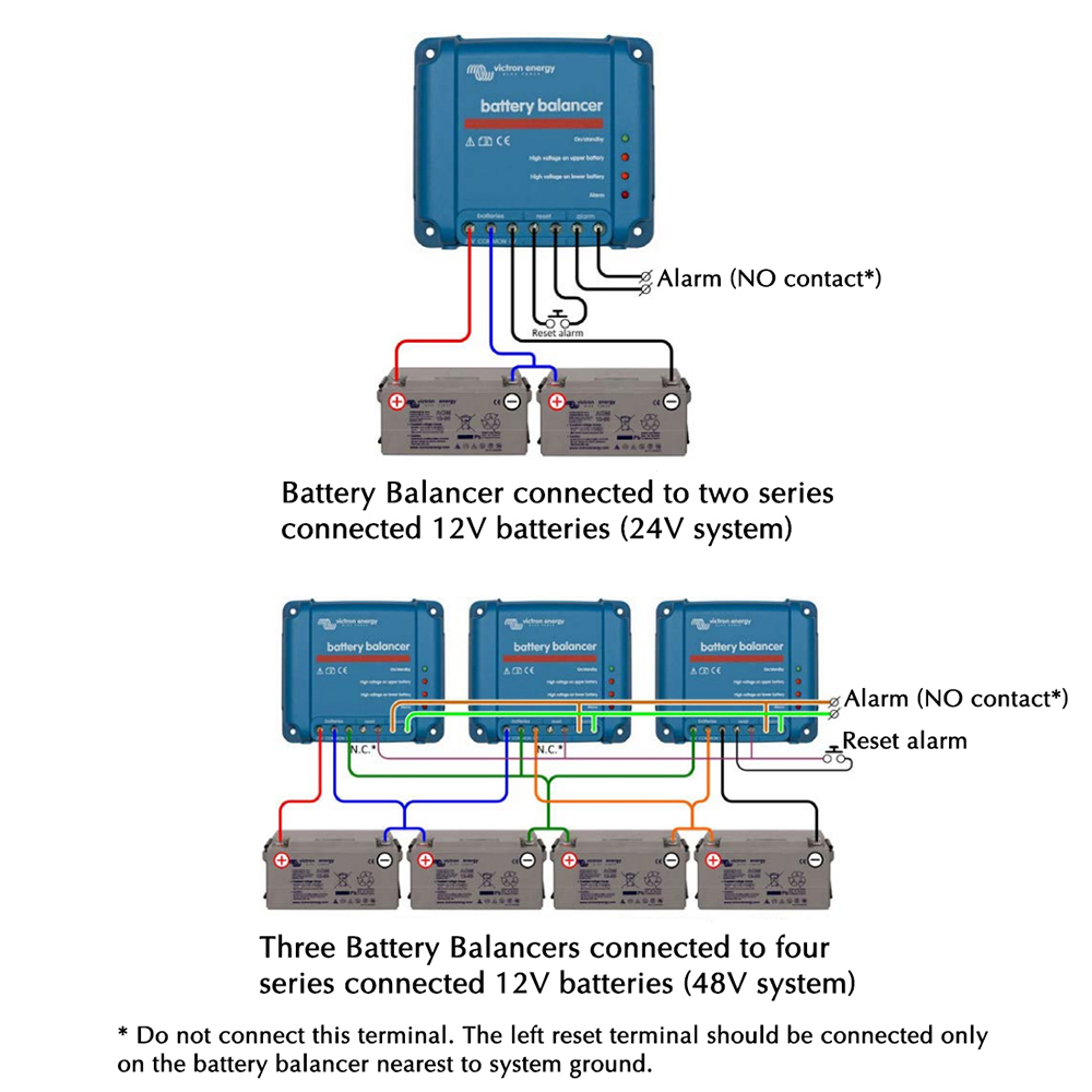 Victron Battery Balancer Wiring Two 12v Batteries Parallel Configurations 2