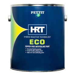 Pettit ECO HRT Copper Free Antifouling Paint for pontoon boats and aluminum hulls