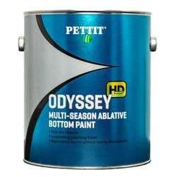 Pettit Odyssey is a multi-season ablative antifouling compatible over most bottom paints