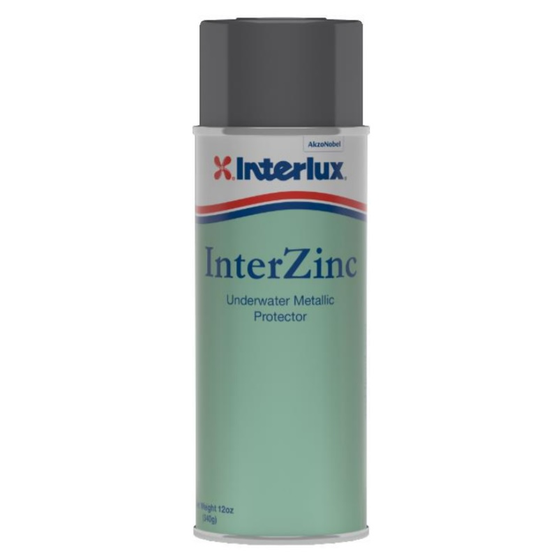 Interlux InterZinc Barnacle barrier spray paint antifouling aerosol for underwater metals
