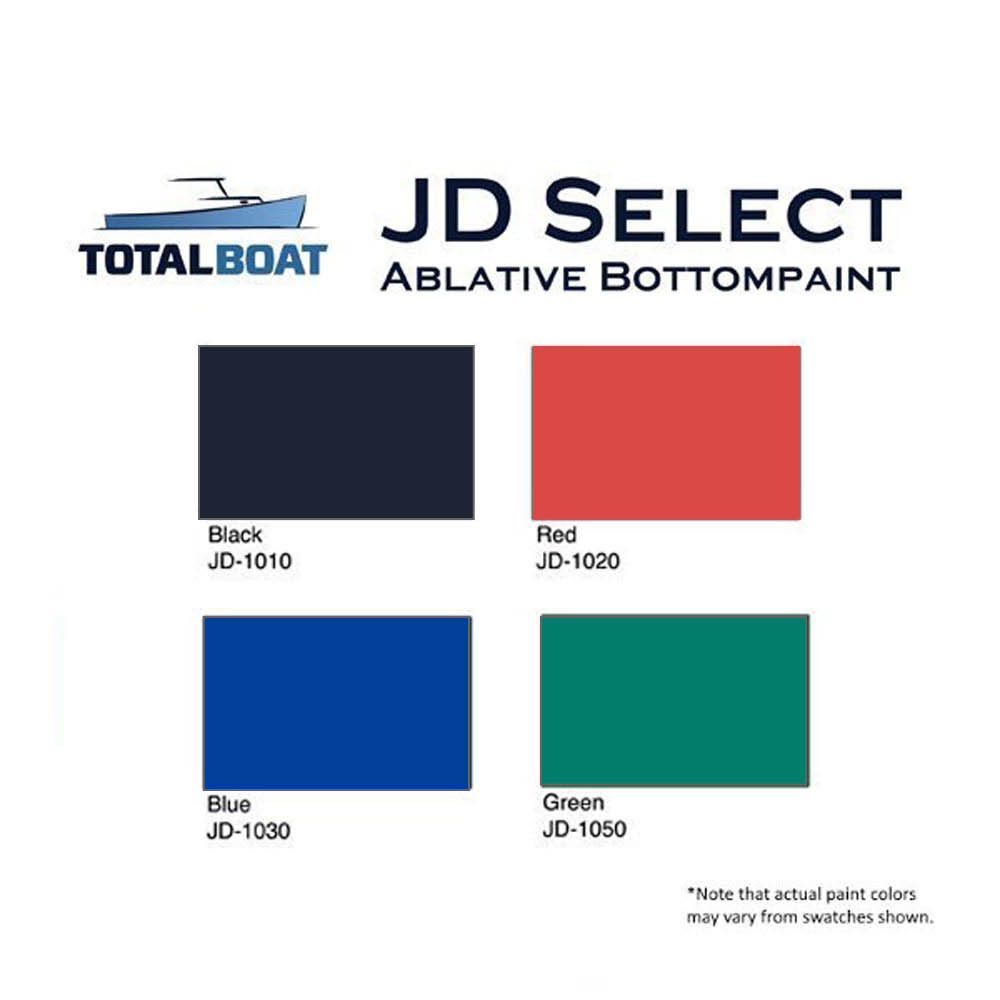 TotalBoat JD Select Bottom Paint Color Chart