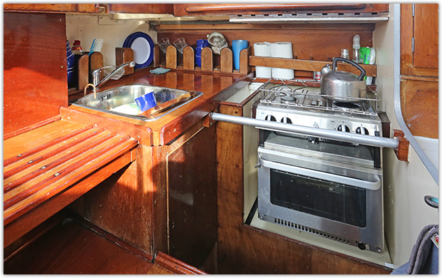 Cohoe IV's modified galley