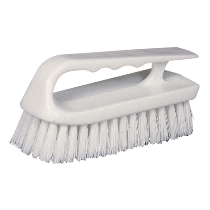 Star Brite Curved Plastic Handle Scrub Brush 40027