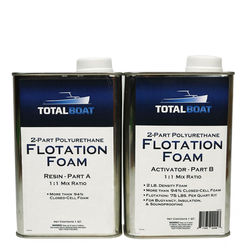 TotalBoat 2-Part Polyurethane Flotation Foam 2 lb. Density 2-Quart Kit