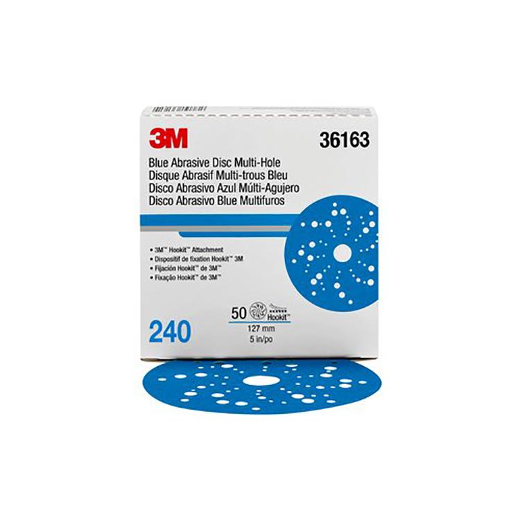 3M Hookit Blue 5 Inch Sanding Discs
