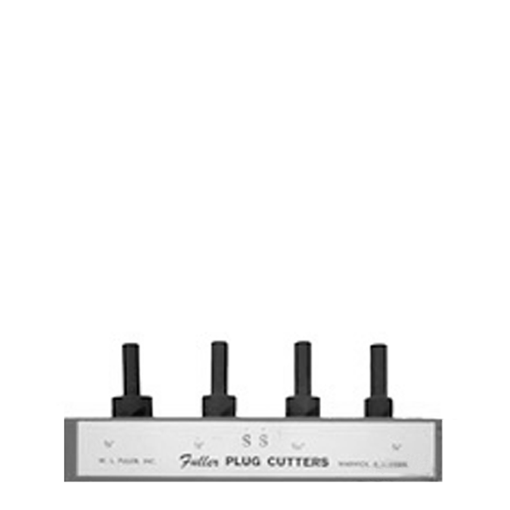 Stainless Wood Plug Cutter 4 Plug Set