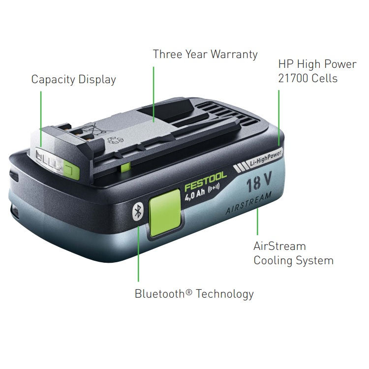 Festool 18V cordless tool battery 4.0 AH