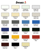 Polyurethane Color Swatches