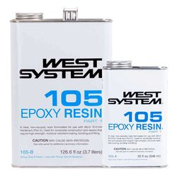WEST System Epoxy Resin, 105 fiberglass resin