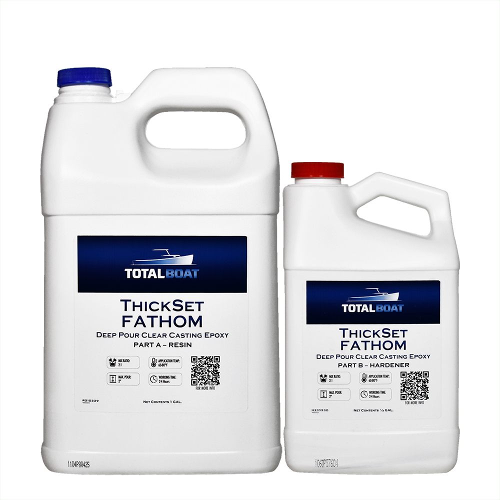 TotalBoat ThickSet Fathom Deep Pour Clear Casting Epoxy