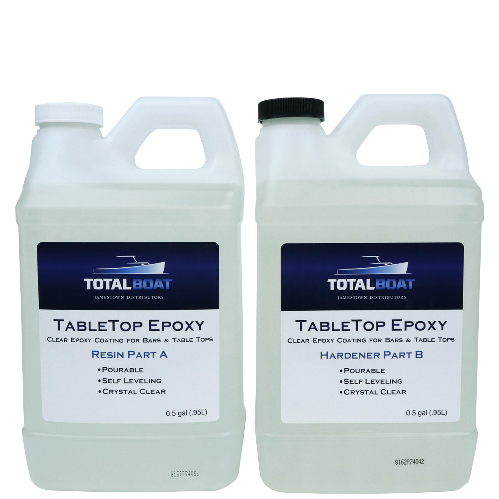 Clear Table Top Epoxy resin and hardener containers gallon kit