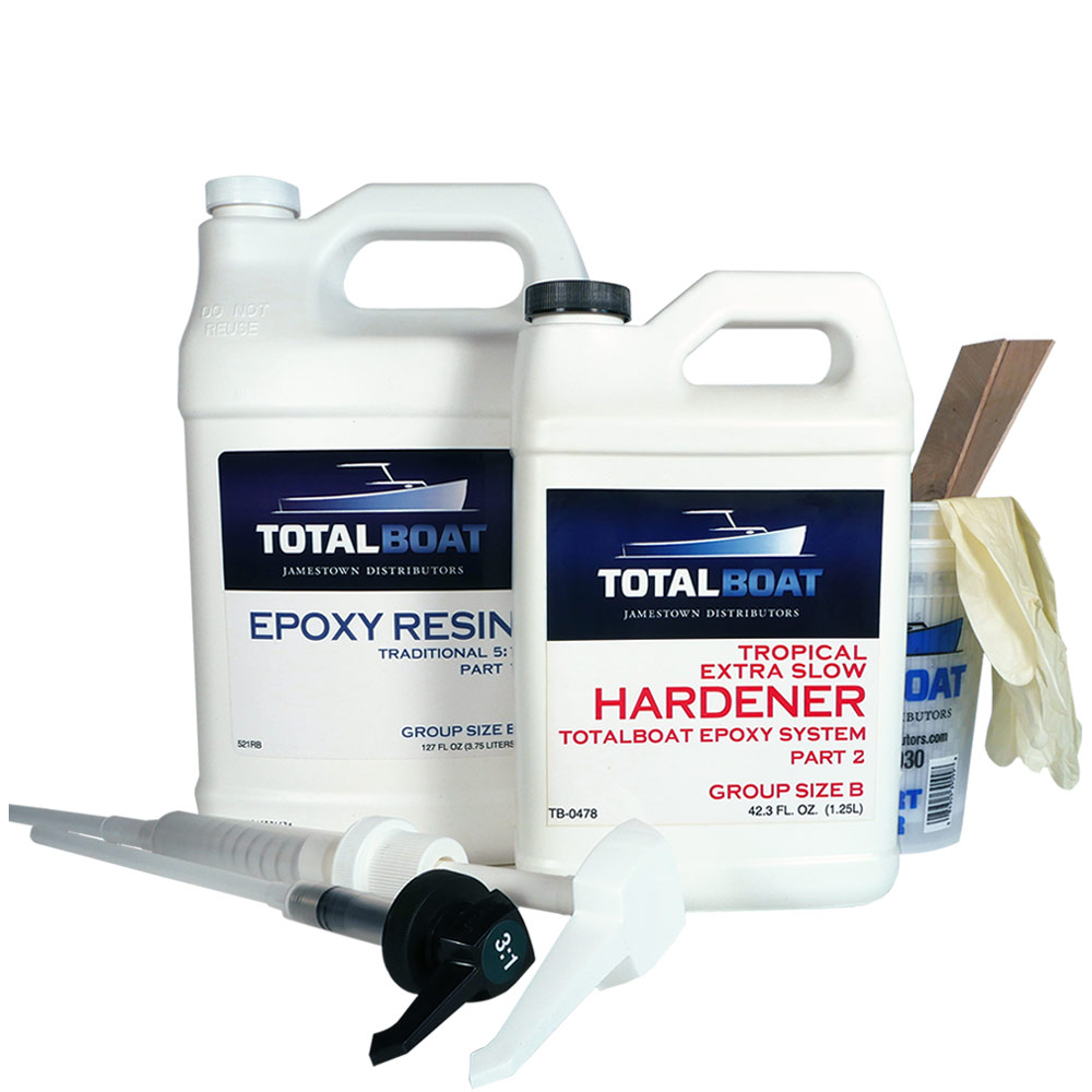 TotalBoat Tropical Extra Slow Epoxy Gallon size B kit compare to west system 209