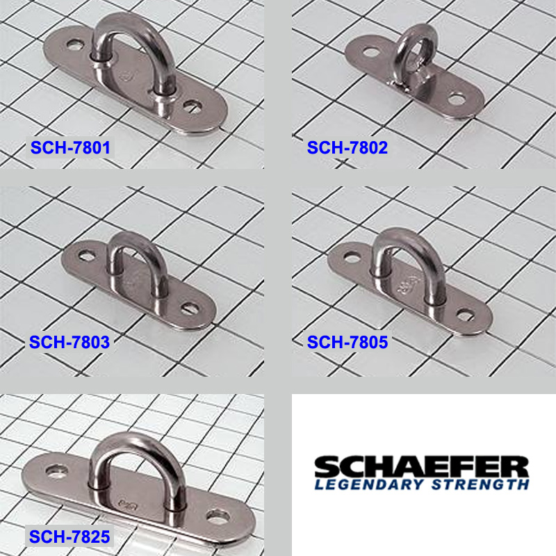 Schaefer 304 SS Welded Ring Pad Eyes