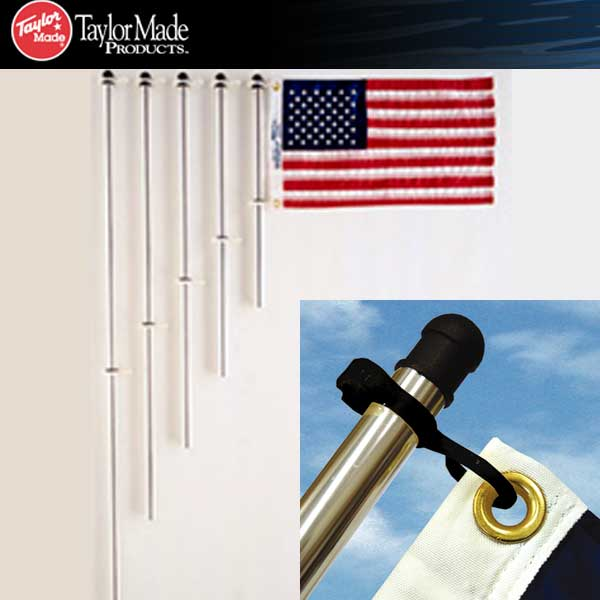 Taylor Made Aluminum Flag Pole with Clips