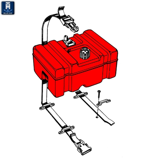 TH Marine Fuel Tank Hold Down Kit
