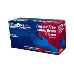 Ammex Dark Blue Latex Gloves