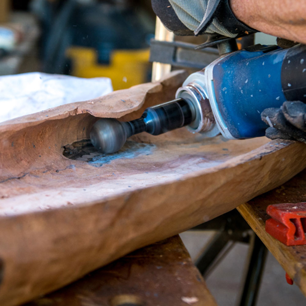 Using the Ball Gouge to undercut wood