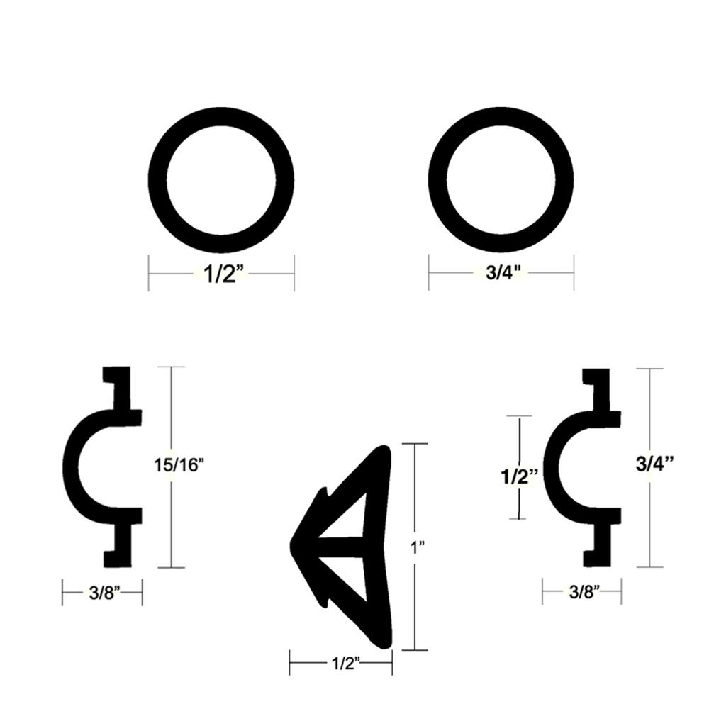 TACO Flexible Vinyl Rub Rail Inserts