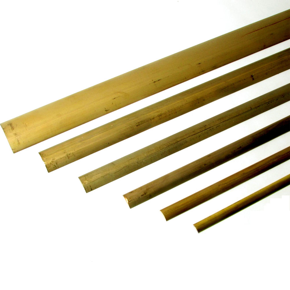 Brass Solid Back Half Oval Trim, marine hardware
