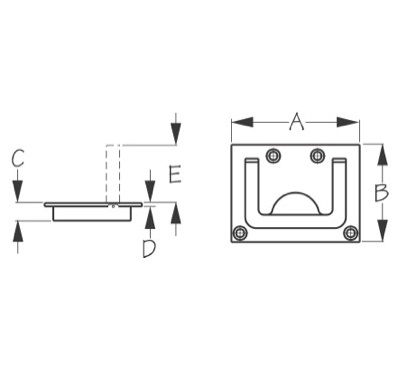 Hatch Handle Dimensions