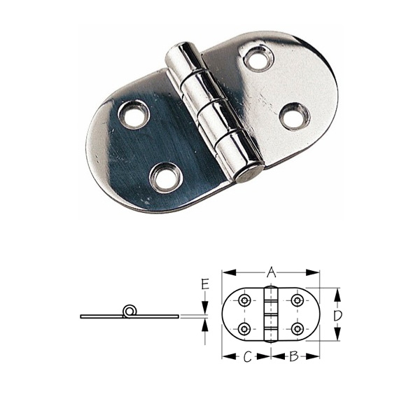 Sea-Dog Stainless Steel Round Side Door Hinge