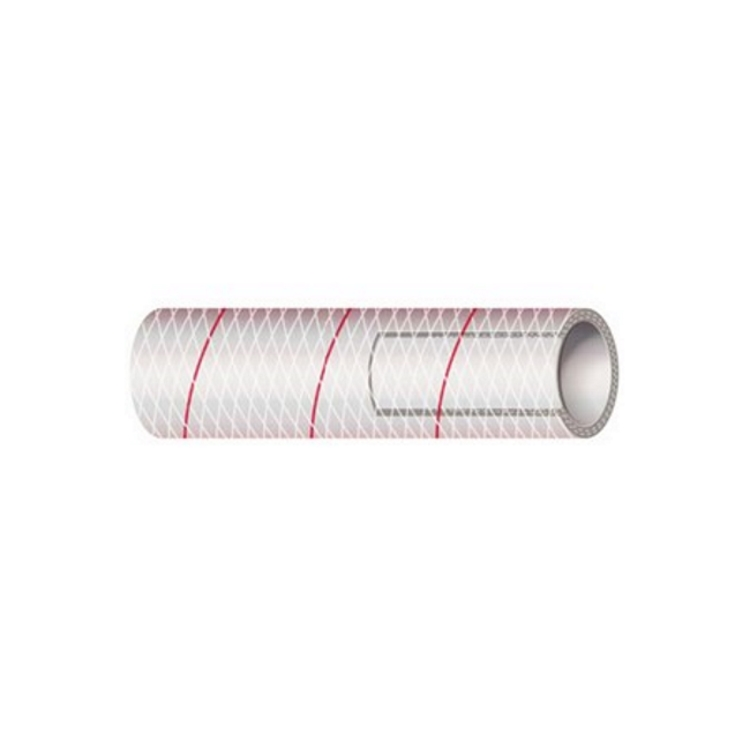 Shields Marine Clear PVC Hose with Red Tracer