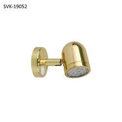 Scandvik Brass Reading Light 10W Xelogen Bulb 19052