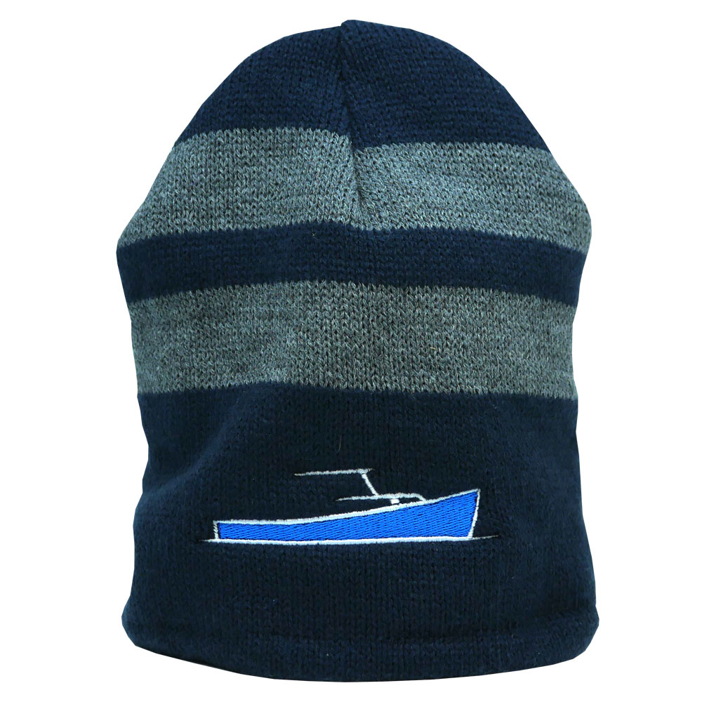 TotalBoat Winter Logo Hats Oxford Beanie