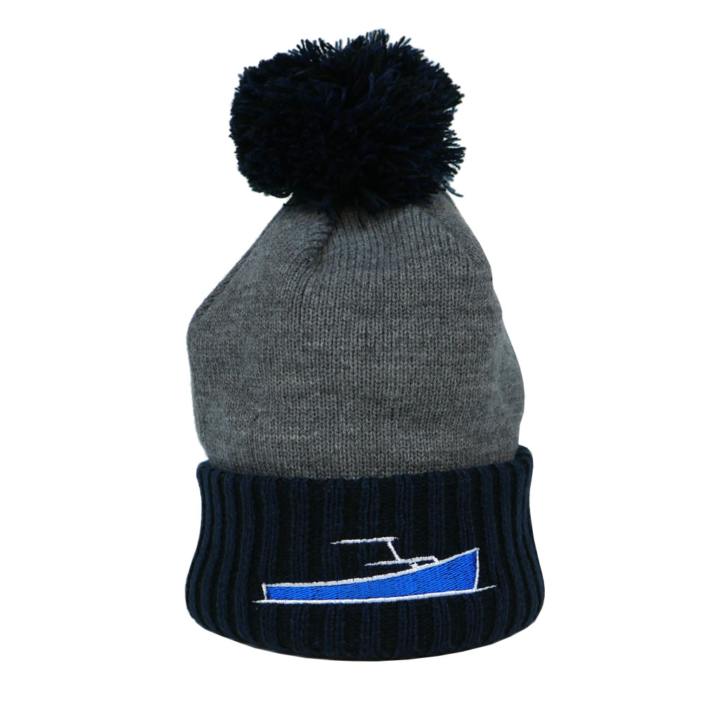 TotalBoat New Era Brand Winter Logo Hats Pom Pom Beanie