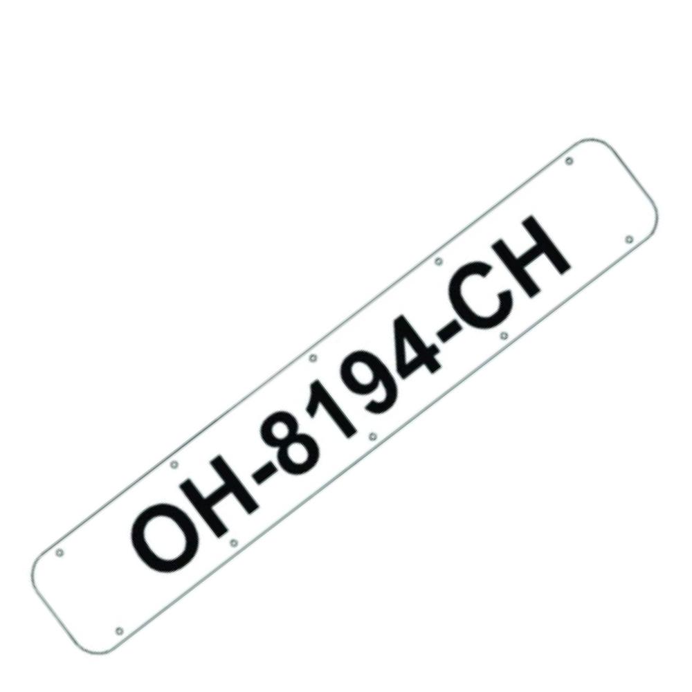 Boat Registration Number Plates