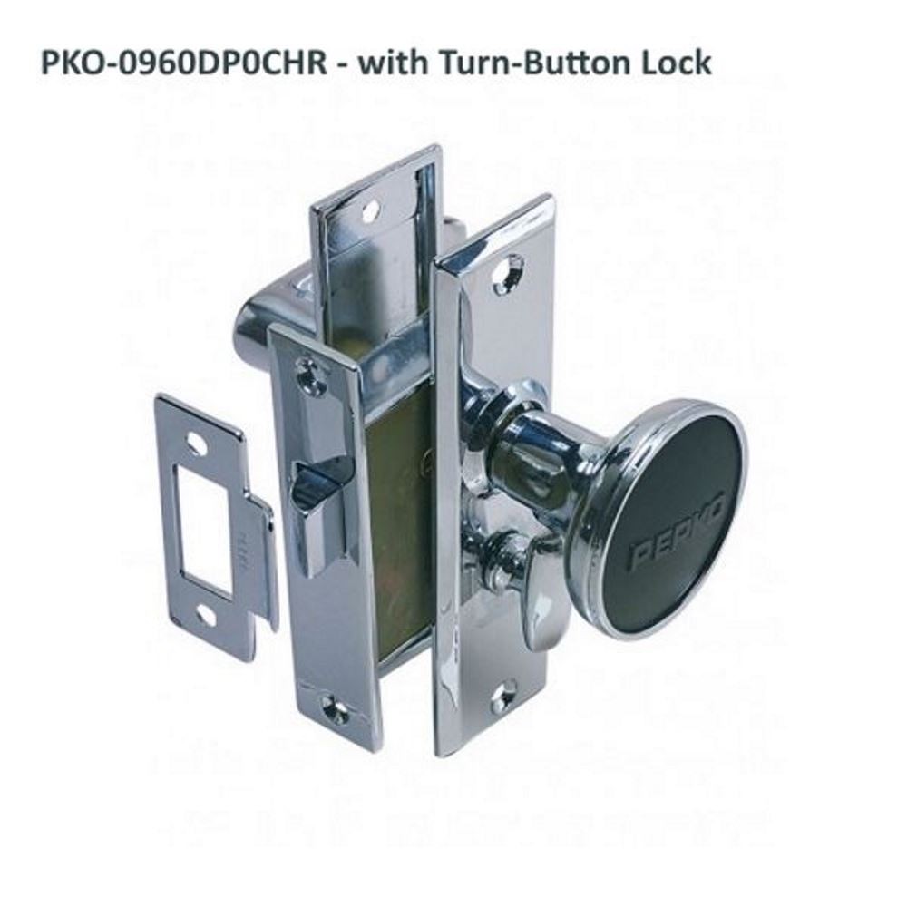 Perko Mortise Lock Set with Turn-Button Lock