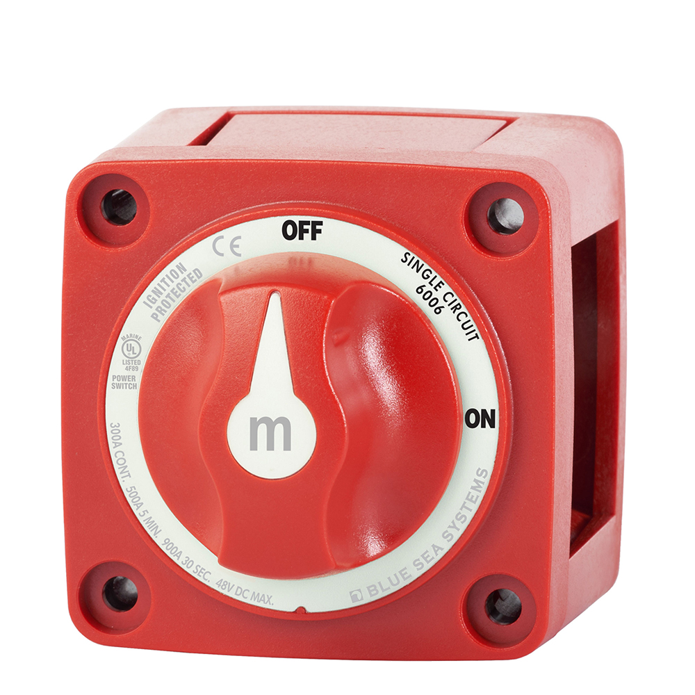 Blue Sea Systems Marine Battery Switch Mini ON/OFF with Knob