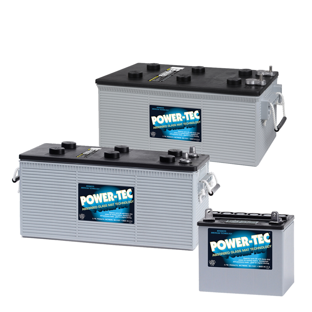 Power-Tech Marine AGM Batteries